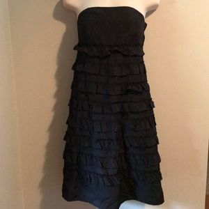 Gap ruffles black dress - Size small NWT